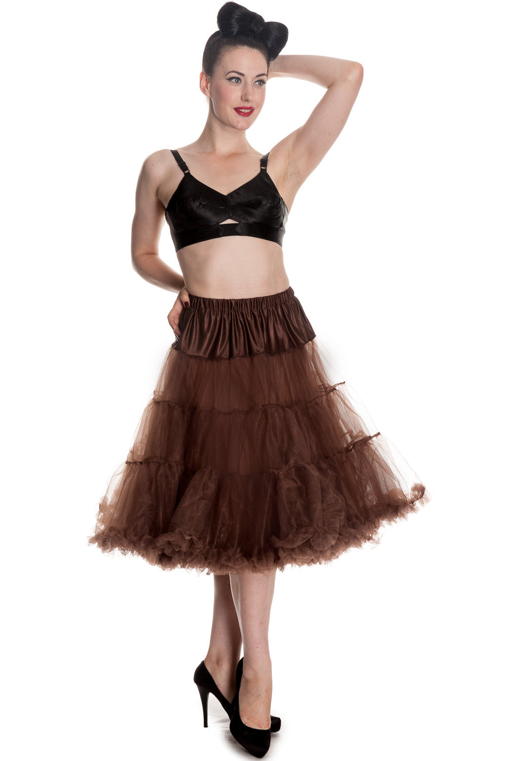 Long Petticoat in Chocolate