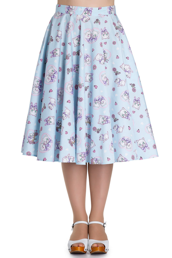 Amelia 50s Skirt in Blue