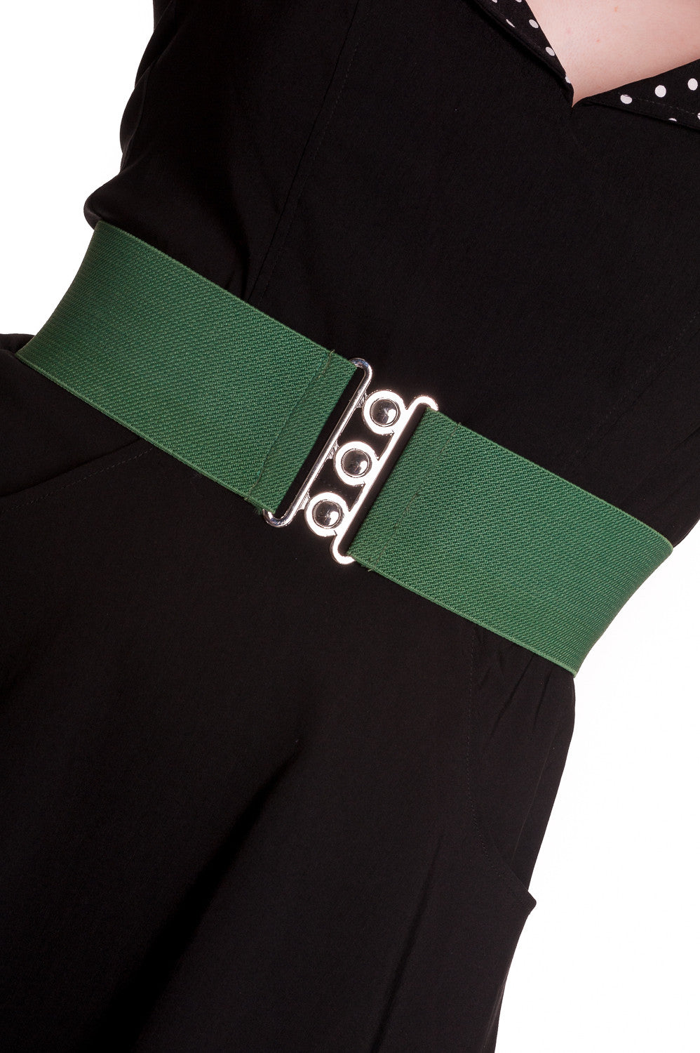 Retro Stretch Belt in Green