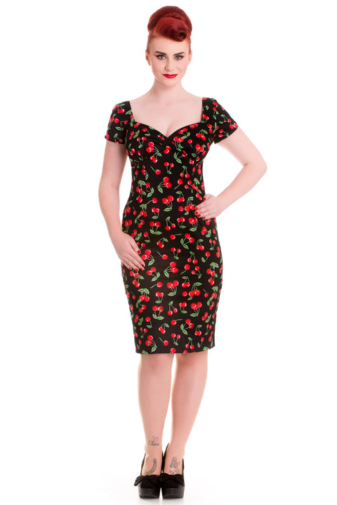 Cherry Pie Pencil Dress