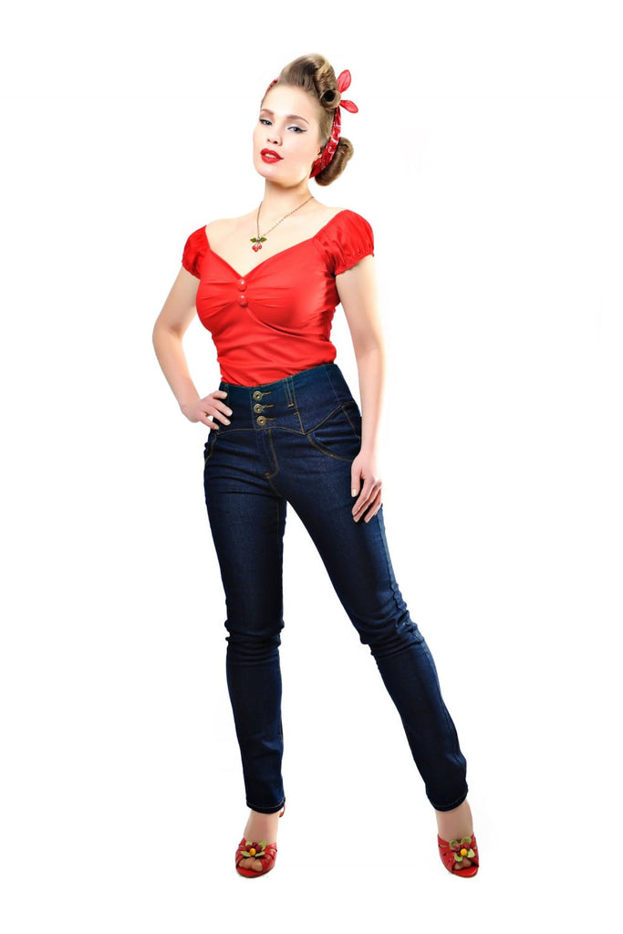 Rebel Kate Denim Jeans Navy (XXS and 3XL ONLY)