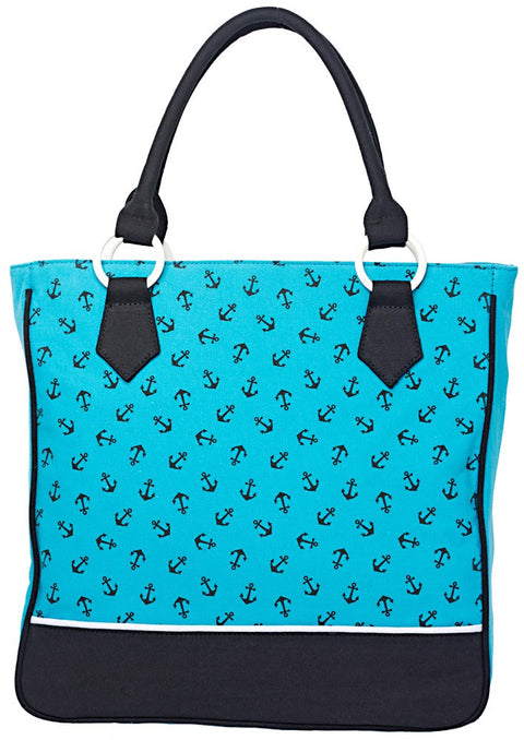 Anchors Pattern Tote Bag