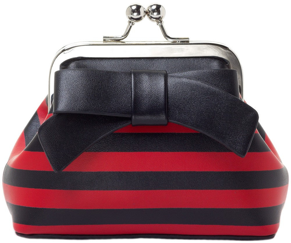 Floozy Coin Purse in Red/Black Stripes