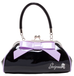 Floozy Purse in Black/Lilac