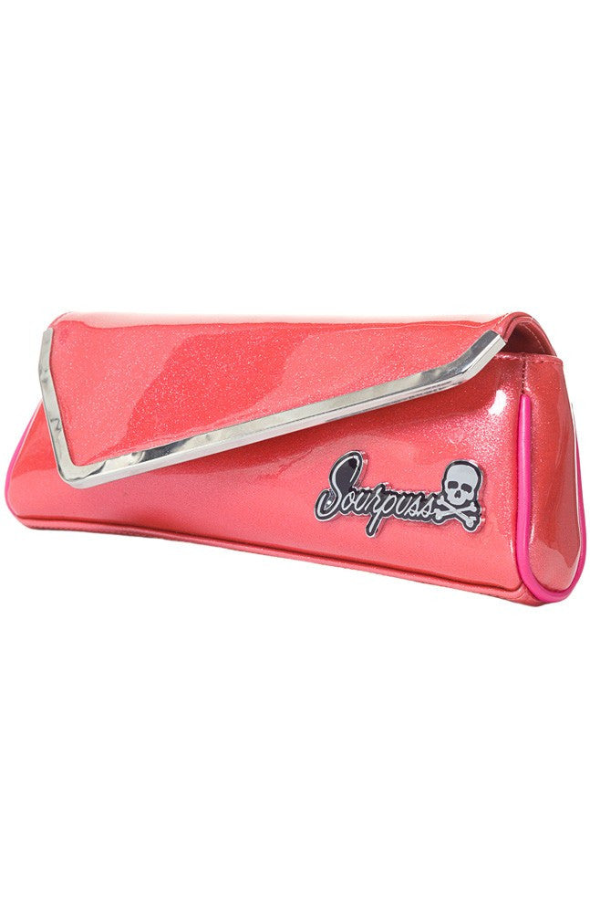 Sparkle Party Clutch Coral