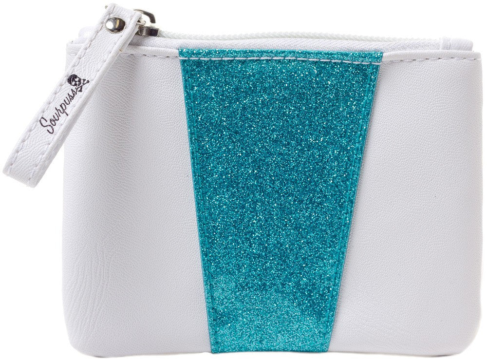 Monroe Coin Purse Turquoise/White