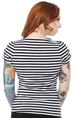 Striped Honey Top Black/White