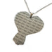 Tape Measure My Love Heart Pendant - Natasha Marie Clothing