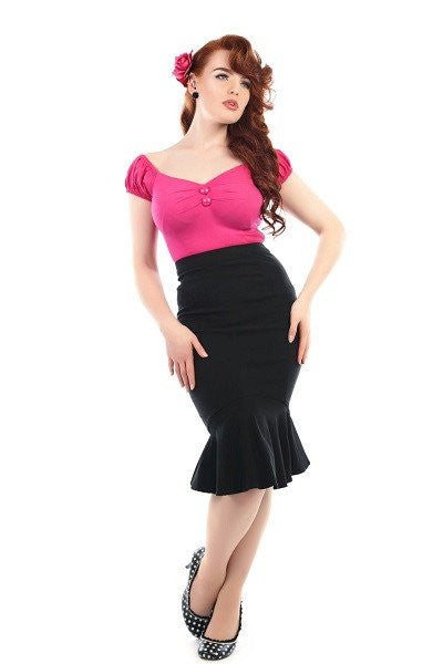 Winifred Fishtail Skirt Black