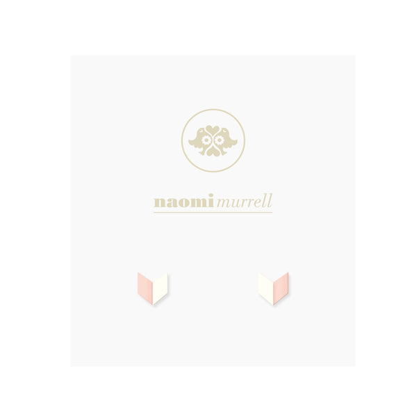 Arrowhead Studs in Rose Gold and Vanilla by Naomi Murrell
