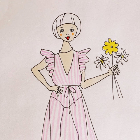 Personalised Fashion Illustration Portraits by Naomi Murrell : Live on Fri 19th Oct