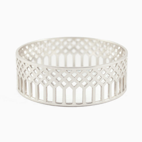 Lattice Bangle in Sterling Silver by Naomi Murrell