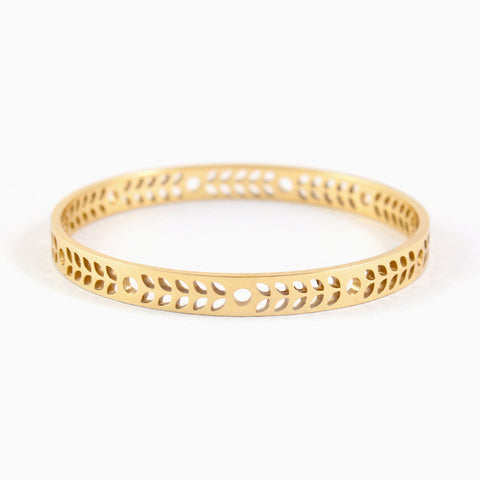 Harvest Bangle in Golden Brass by Naomi Murrell