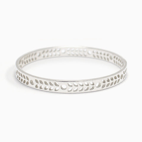 Harvest Bangle in Sterling Silver by Naomi Murrell