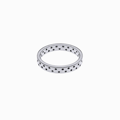 Polka Dot Ring in Sterling Silver by Naomi Murrell