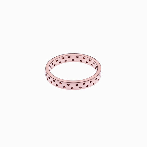 Polka Dot Ring, Rose Gold Plate