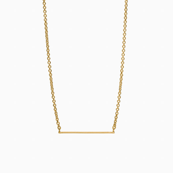 Horizon Necklace in Golden Brass by Naomi Murrell