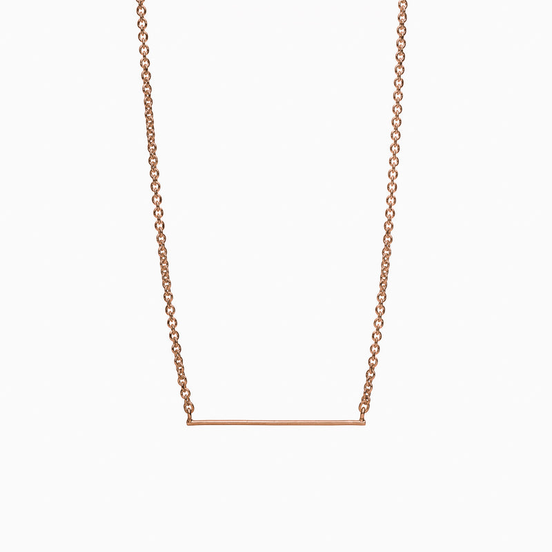 Horizon Necklace in Rose Gold Plate by Naomi Murrell