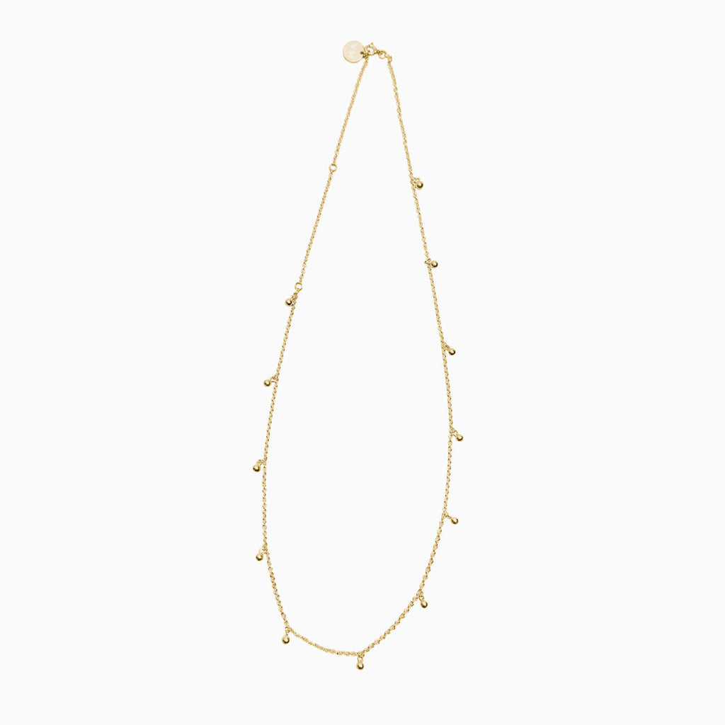 Pinball Necklace in Golden Brass by Naomi Murrell