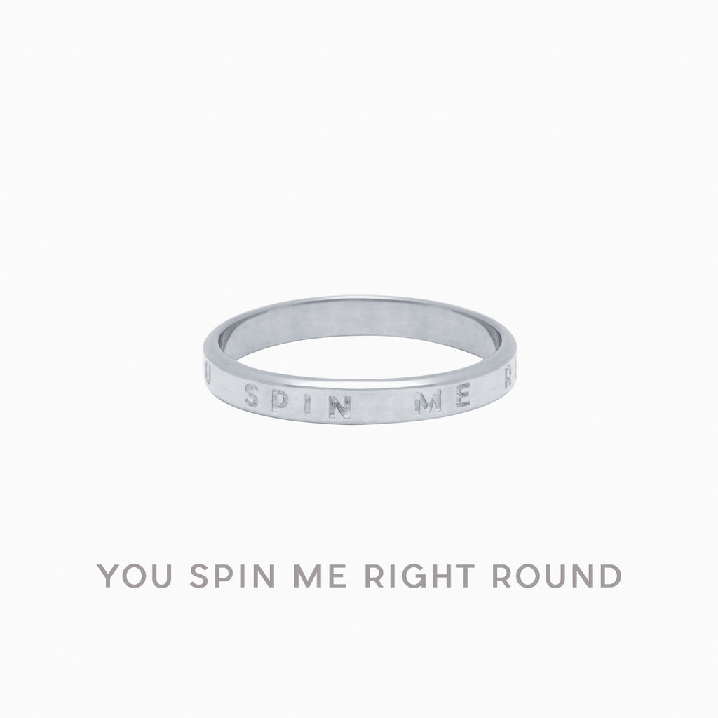 You Spin Me Right Round Ring in Sterling Silver by Naomi Murrell