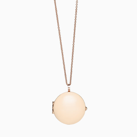 Locket in Rose Gold Plate and Blush by Naomi Murrell
