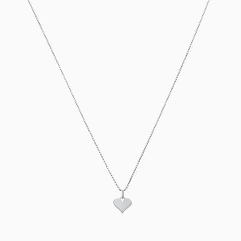 Heart Charm<br>Sterling Silver