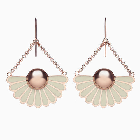 Deco Droplet Earrings in Dove Grey by Naomi Murrell
