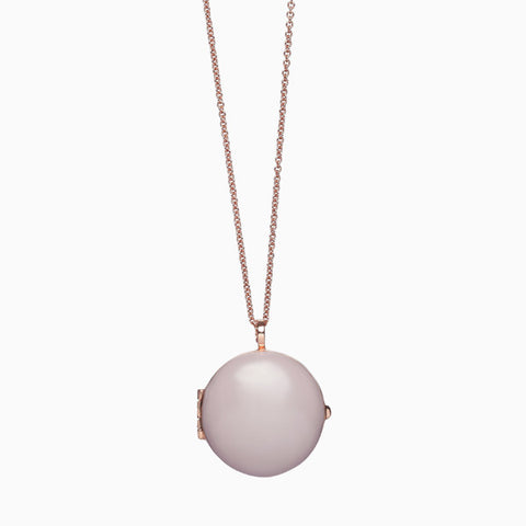Locket in Rose Gold Plate and Lilac by Naomi Murrell