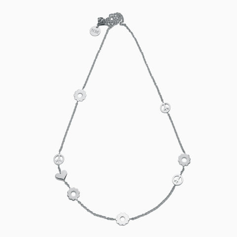 Classic Daisy Chain Necklace<br/>Sterling Silver