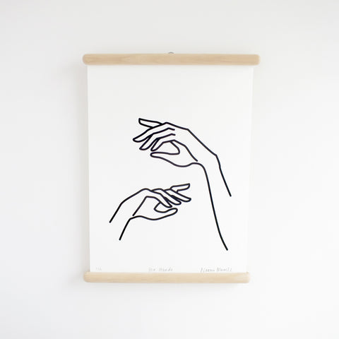 Her Hands, Screen Print