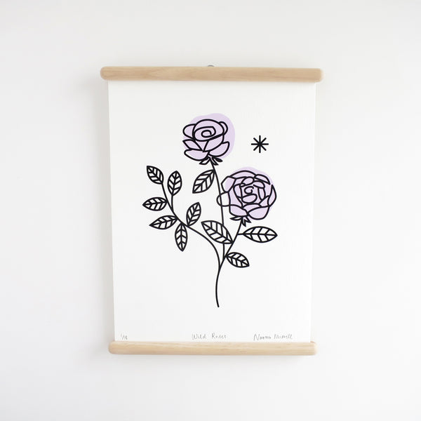 Wild Roses - Lilac, Screen Print - SOLD OUT