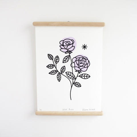 Wild Roses / Lilac, Screen Print