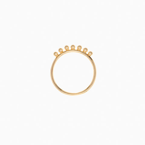 Pom Pom Ring in Golden Brass by Naomi Murrell