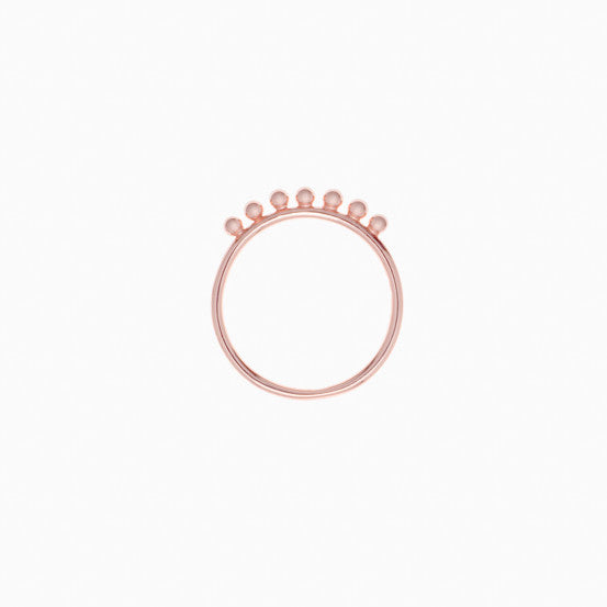 Pom Pom Ring in Rose Gold Plate by Naomi Murrell