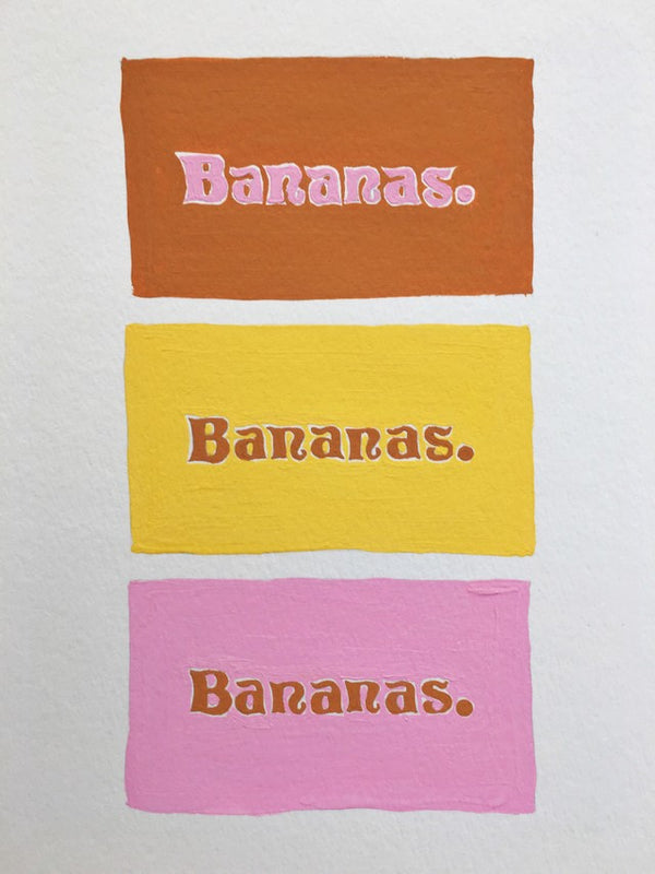 So Many Bananas Painting Detail by Naomi Murrell