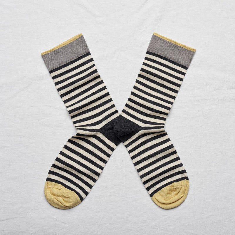 Dark Stripe Socks by Bonne Maison