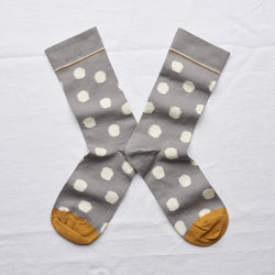 Elephant Grey Polka Dot Socks by Bonne Maison