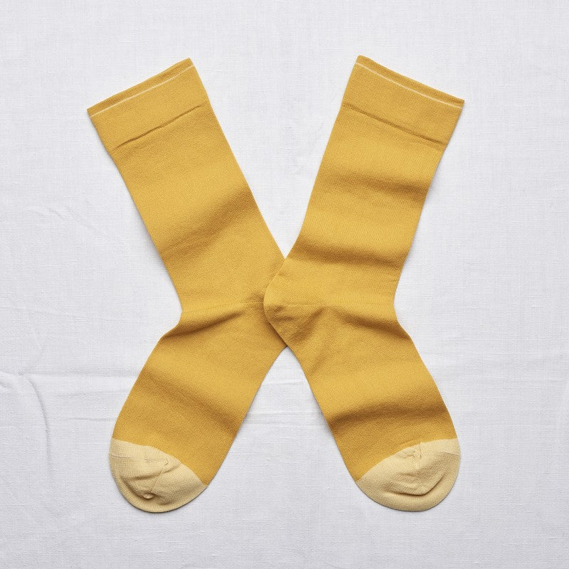Plain Gold Socks by Bonne Maison