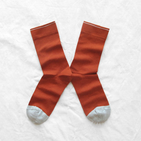 Plain Pumpkin Socks by Bonne Maison