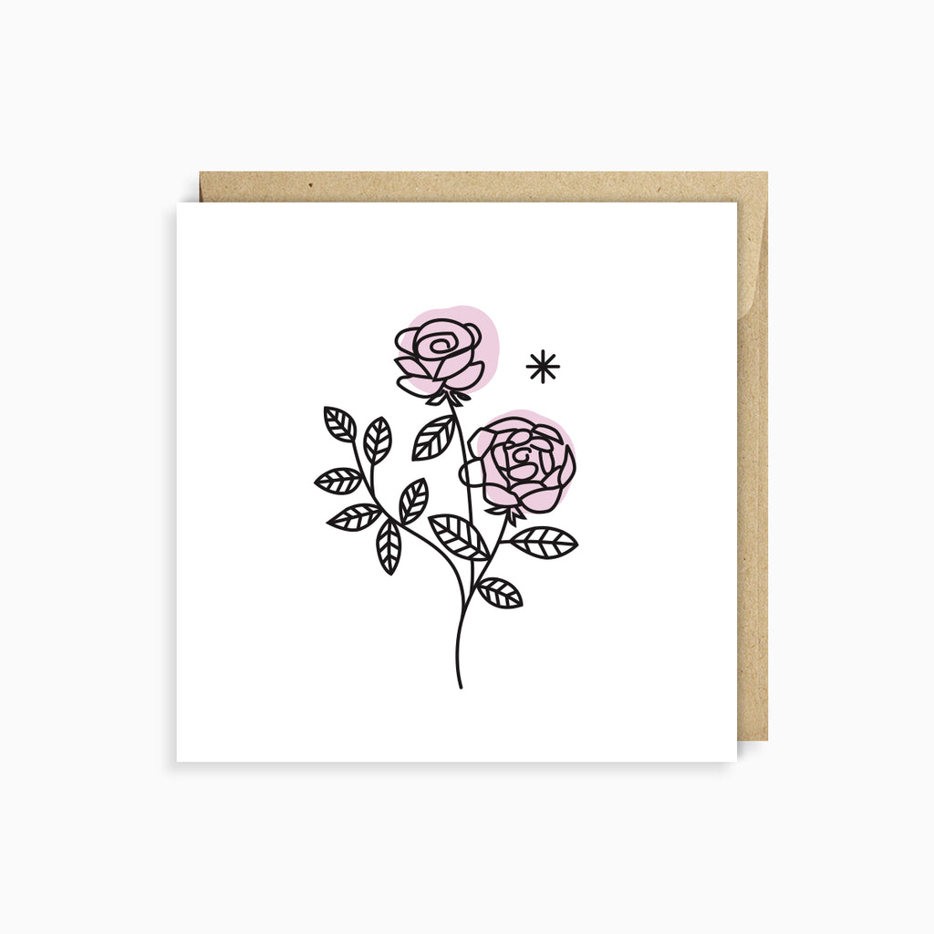 Wild Roses Card