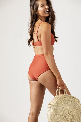 Frankie High Waist Bikini Bottom Back by Coco & Shy
