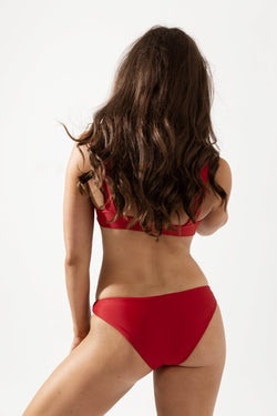 Lotte Wide Strap Bikini Top Back in Cherry by Coco & Shy