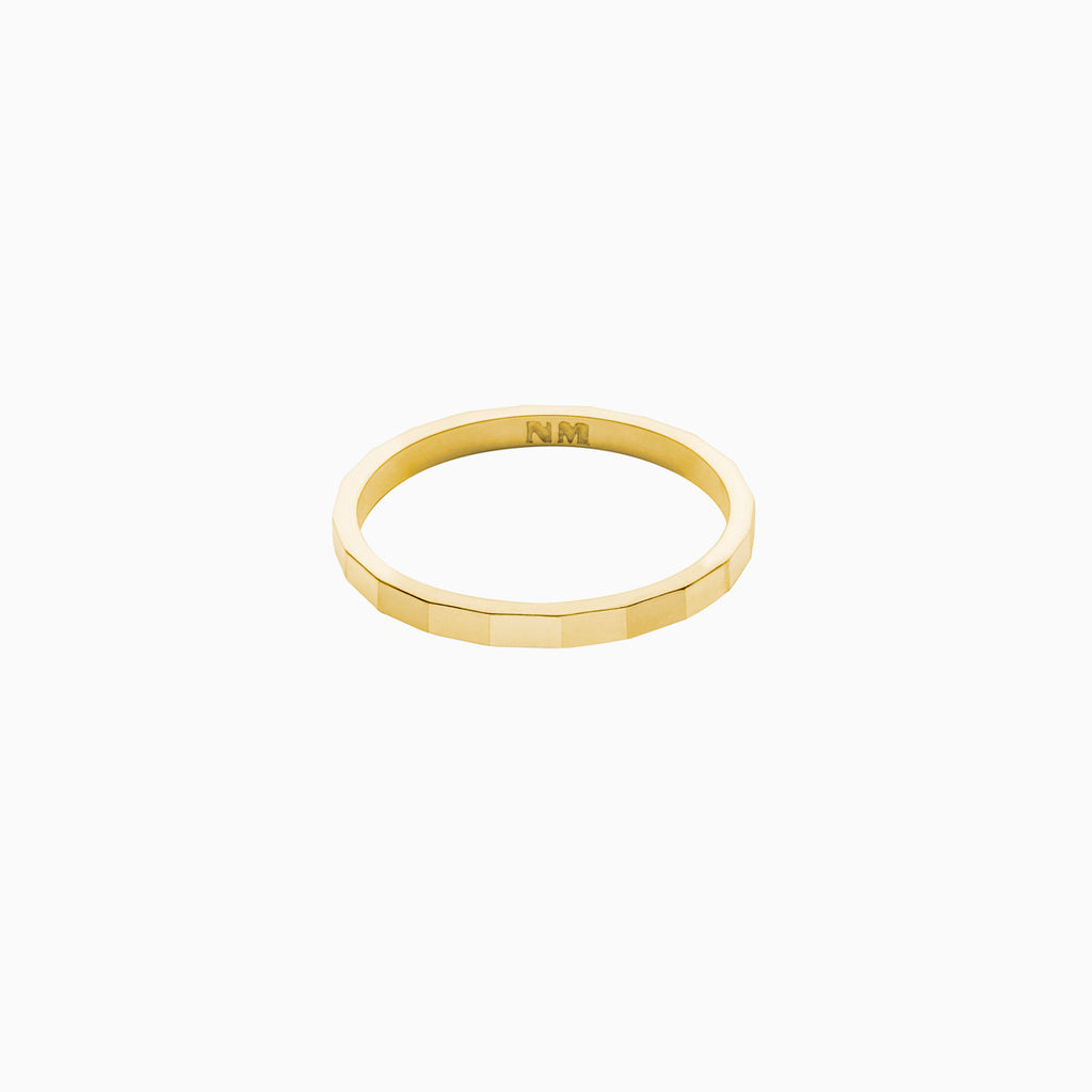 Facet Ring in Golden Brass by Naomi Murrell