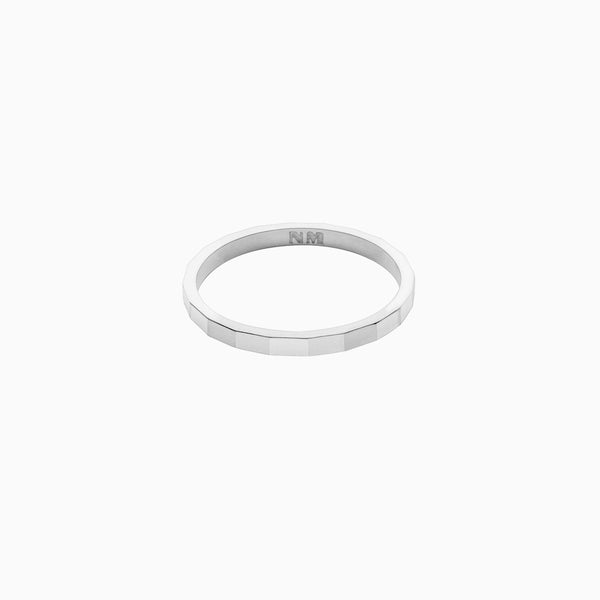 Facet Ring in Sterling Silver by Naomi Murrell