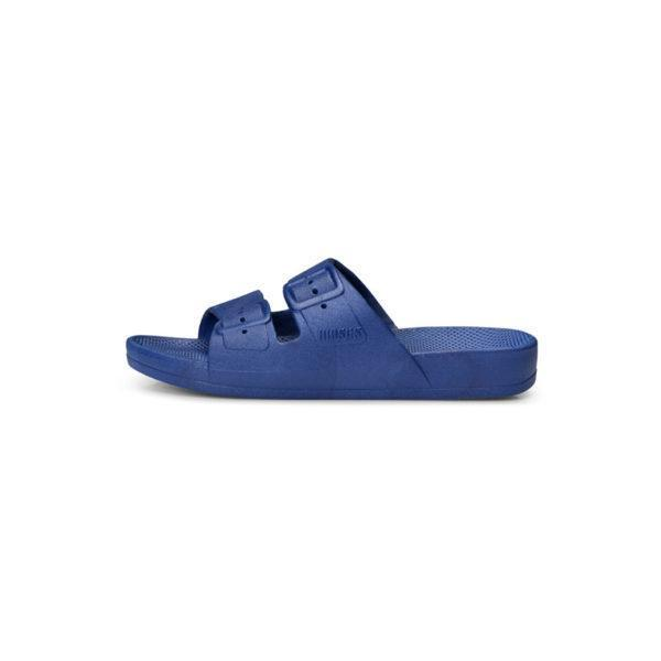 Freedom Moses Slides in Navy, Side View