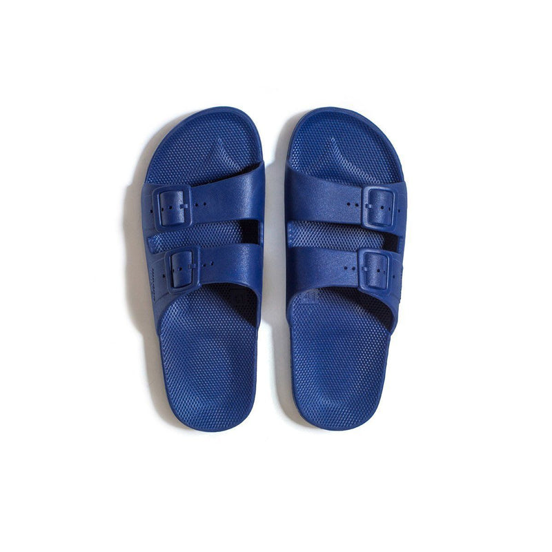 Freedom Moses Slides in Navy, Top View