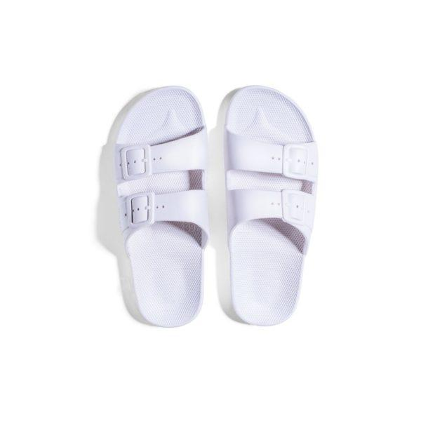 Freedom Moses Slides in White, Top View