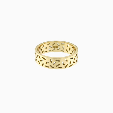 Shake It Ring in Golden Brass by Naomi Murrell