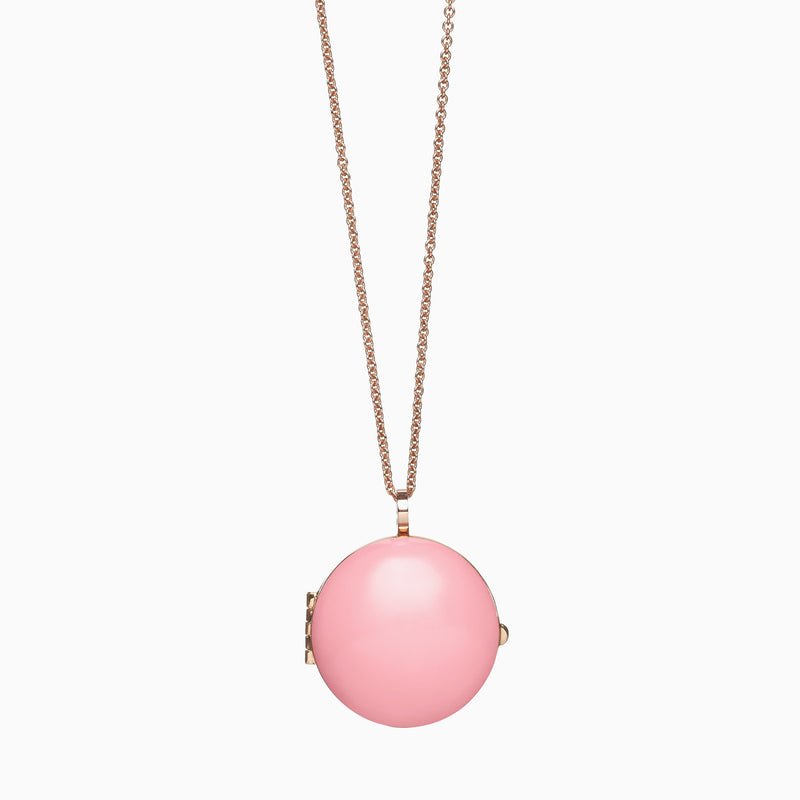 Locket in Rose Gold Plate and Milkshake by Naomi Murrell