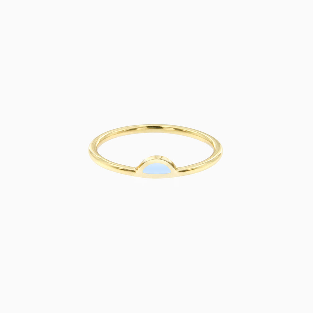 Petal Ring in Golden Brass and Mist by Naomi Murrell